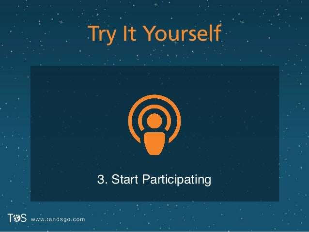 Try It Yourself 3. Start Participating