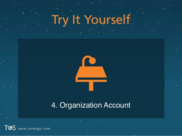 Try It Yourself 4. Organization Account