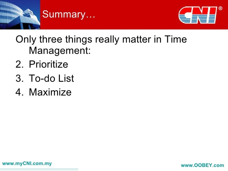 time management speech Time management refers to managing time effectively so that the right time is allocated to the right activity time management plays a very important role not only in.
