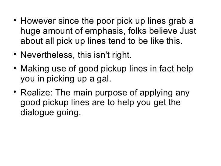 Pickup lines