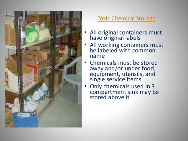Chemicals Should Be Stored At Inches Least From Food
