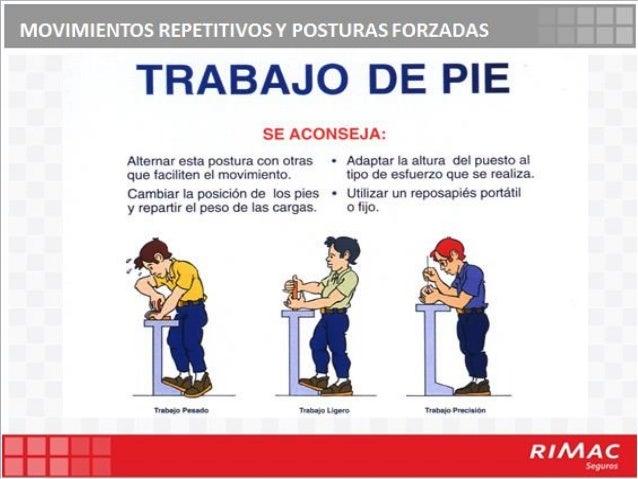 Movimientos repetitivos posturas forzadas for Recomendaciones ergonomicas para trabajo en oficina