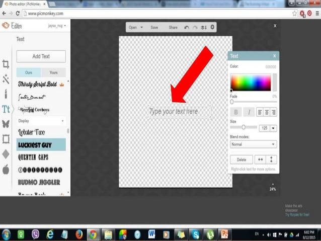 how to make a custom design word
