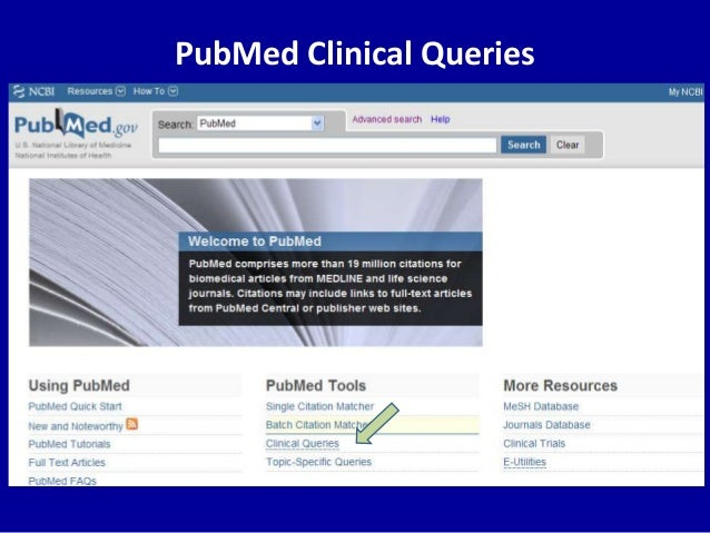 PubMed Clinical Queries