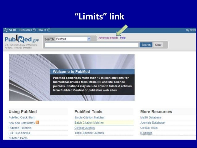 """Limits"" link"