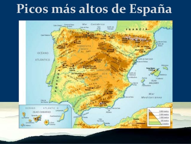 Mapa Picos De España.Picos De Espana