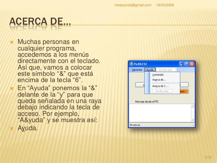 metaconta@gmail.com   18/03/2009     ACERCA DE…                             &                         Resultado    En est...