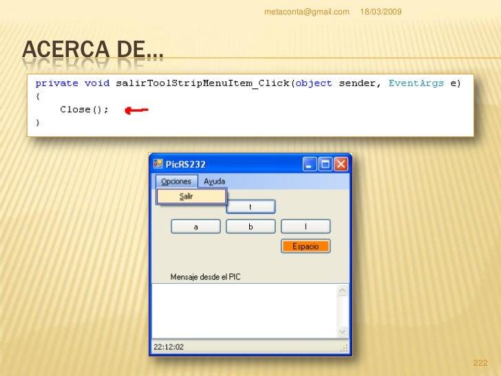 """metaconta@gmail.com   18/03/2009     ACERCA DE…   Ahora nos toca abrir un archivo de ayuda en   pdf dentro de """"AyudaCont..."""