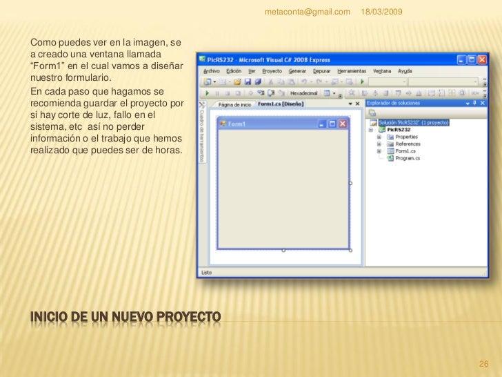 """metaconta@gmail.com   18/03/2009     INICIO DE UN NUEVO PROYECTO     Pulsa el botón     """"Guardar todo"""" como     indica en..."""
