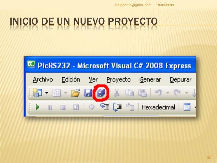 """metaconta@gmail.com   18/03/2009     INICIO DE UN NUEVO PROYECTO     Al pulsar """"Guardar     todo"""" aparece una     ventana..."""