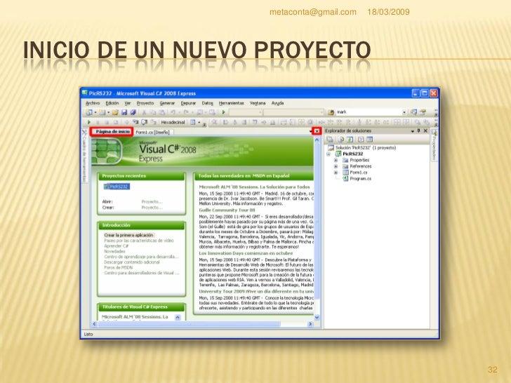 """metaconta@gmail.com   18/03/2009     INICIO DE UN NUEVO PROYECTO     Pulsa la pestaña     """"Cuadro de     herramientas"""" pa..."""