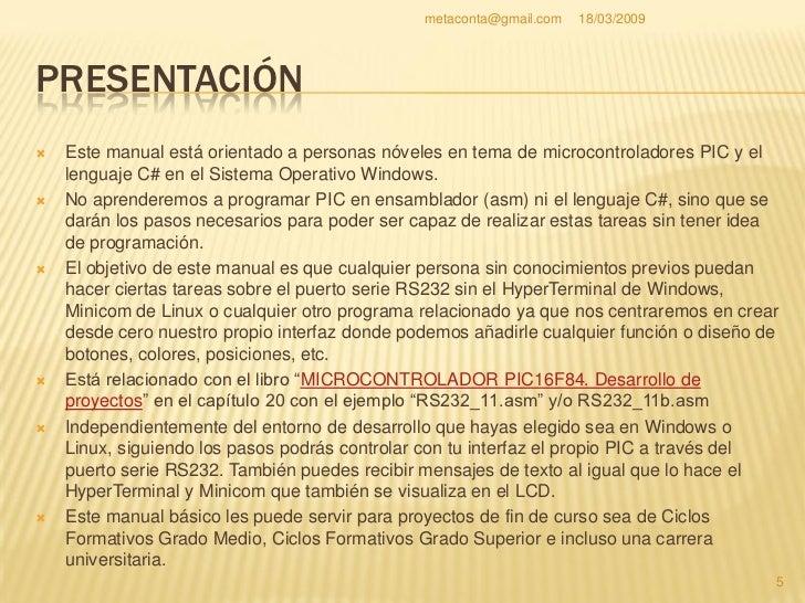 metaconta@gmail.com   18/03/2009                                        Introducción             VISUAL C# .NET           ...