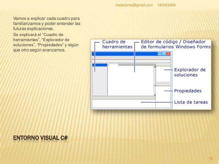 """metaconta@gmail.com   18/03/2009     CUADRO DE HERRAMIENTAS    En el """"Cuadro de herramientas"""" hay     componentes que pue..."""