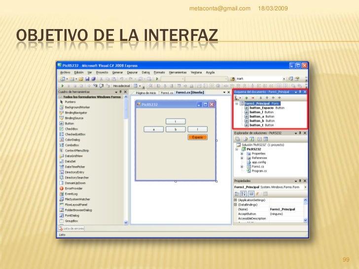 """metaconta@gmail.com   18/03/2009     OBJETIVO DE LA INTERFAZ     Esta ventana se llama     """"Esquema de     documento"""", co..."""