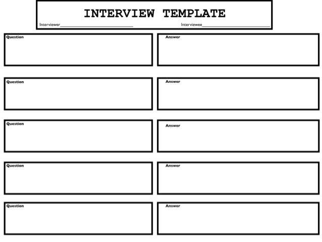 interview template. Black Bedroom Furniture Sets. Home Design Ideas