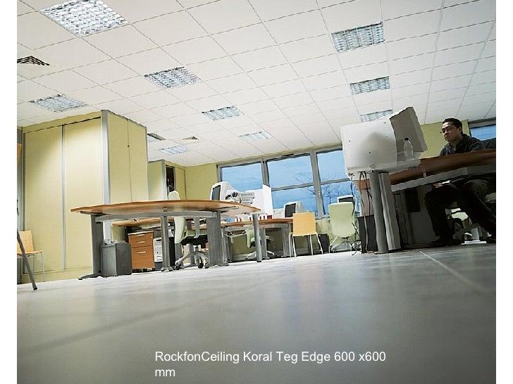 RockfonCeiling Koral Teg Edge 600 x600 mm
