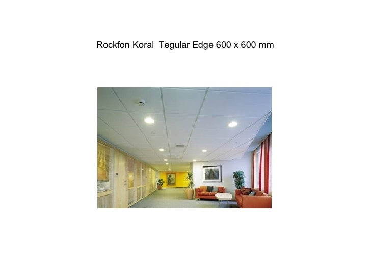 Rockfon Koral  Tegular Edge 600 x 600 mm