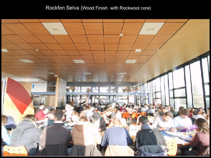 Rockfon Selva ( Wood Finish  with Rockwool core)