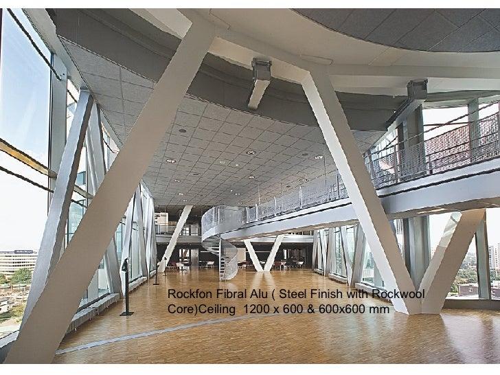 Rockfon Fibral Alu ( Steel Finish with Rockwool Core)Ceiling  1200 x 600 & 600x600 mm