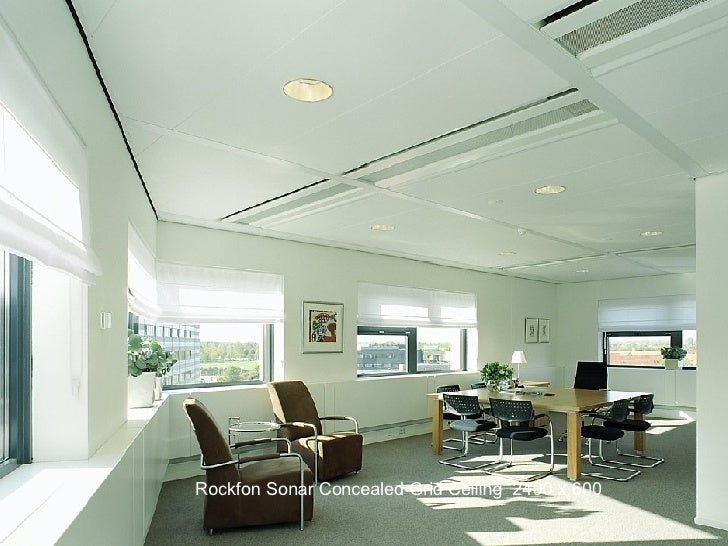 Rockfon Sonar Concealed Grid Ceiling  2400 x 600