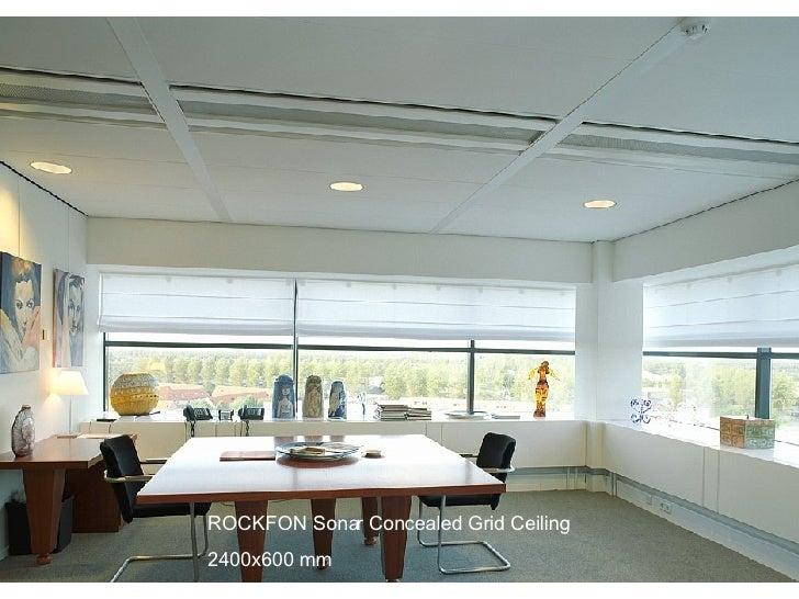 ROCKFON Sonar Concealed Grid Ceiling  2400x600 mm