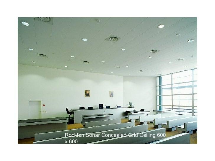 Rockfon Sonar Concealed Grid Ceiling 600 x 600