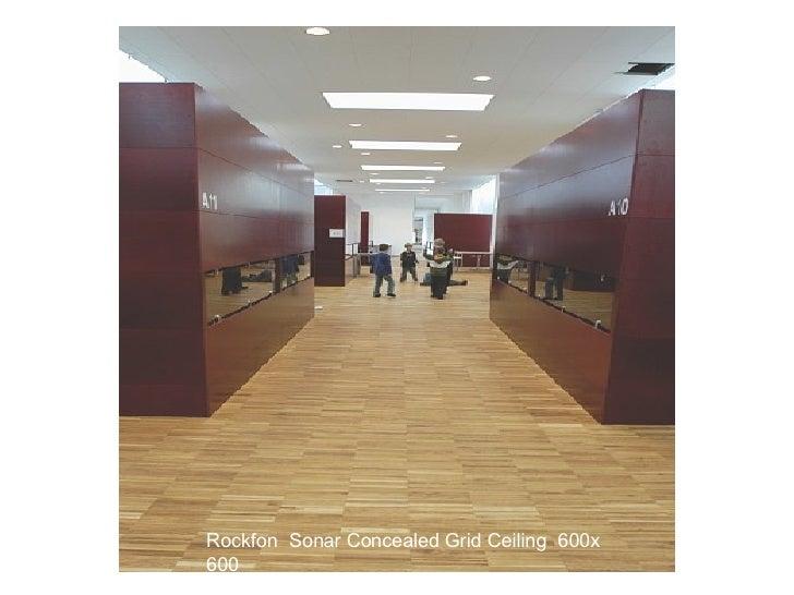 Rockfon  Sonar Concealed Grid Ceiling  600x 600