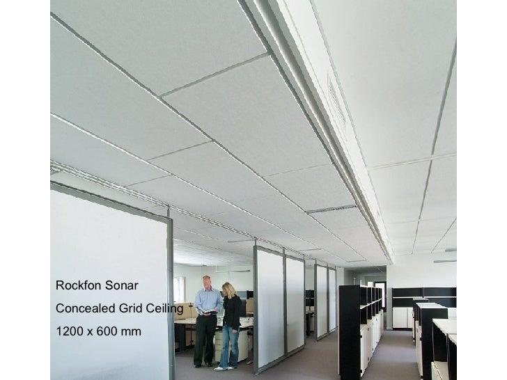 Rockfon Sonar Concealed Grid Ceiling  1200 x 600 mm