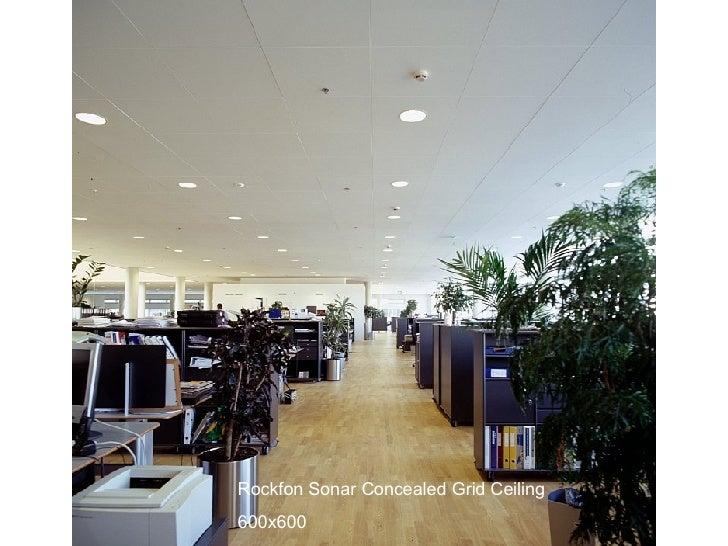 Rockfon Sonar Concealed Grid Ceiling 600x600