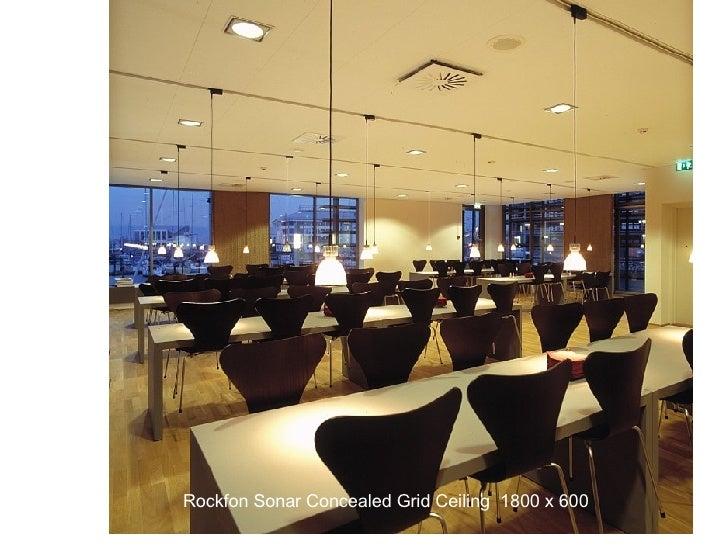 Rockfon Sonar Concealed Grid Ceiling  1800 x 600