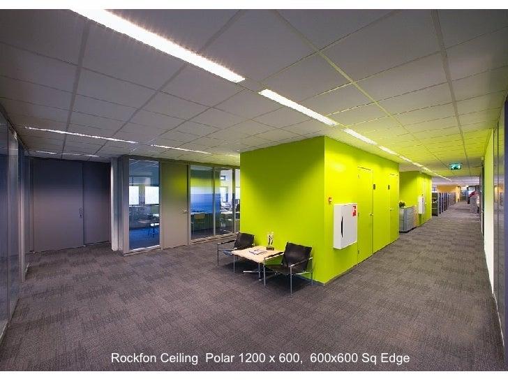 Rockfon Ceiling  Polar 1200 x 600,  600x600 Sq Edge