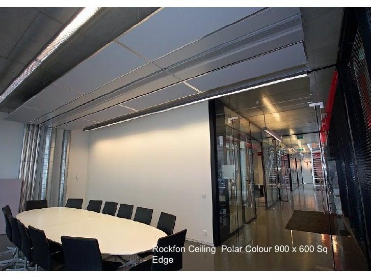 Rockfon Ceiling  Polar Colour 900 x 600 Sq  Edge