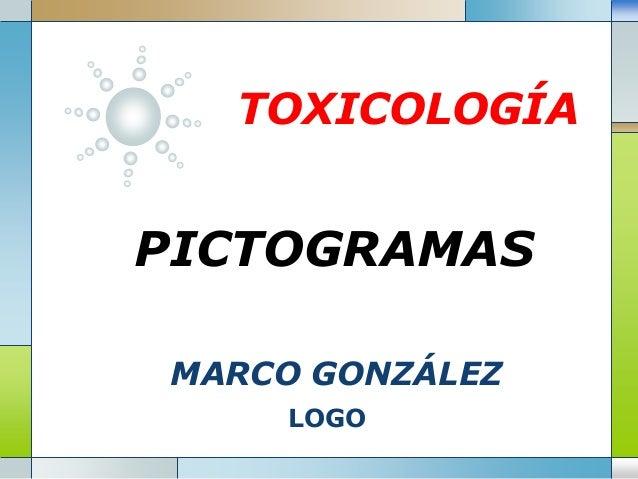 LOGO TOXICOLOGÍA PICTOGRAMAS MARCO GONZÁLEZ