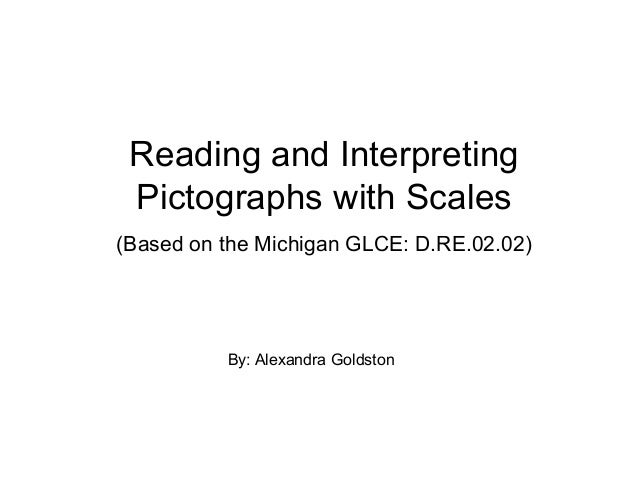 Reading and Interpreting Pictographs with Scales (Based on the Michigan GLCE: D.RE.02.02) By: Alexandra Goldston
