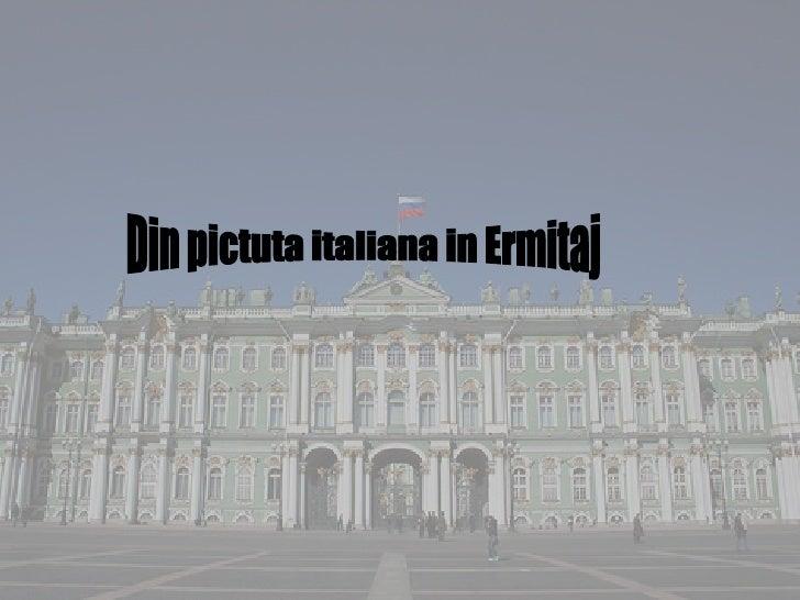 Din pictuta italiana in Ermitaj