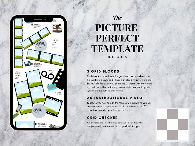 Picture perfect instagram puzzle template