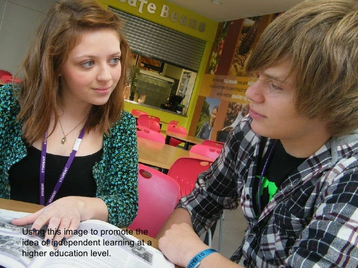 Using this image to promote the idea of independent learning at a  higher education level.