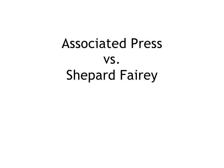 Associated Press vs. Shepard Fairey