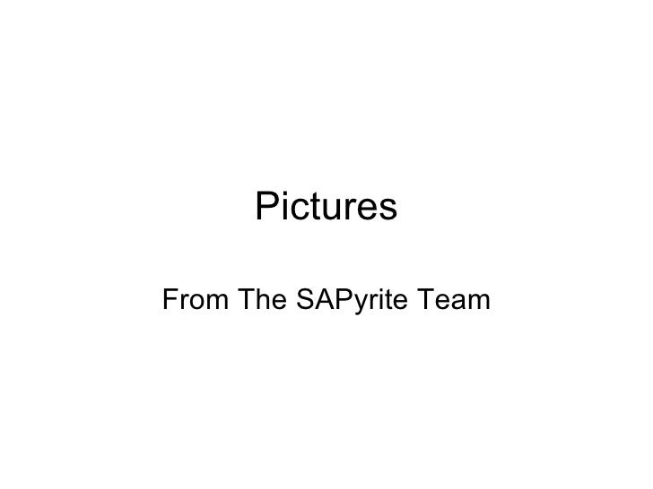 Pictures From The SAPyrite Team
