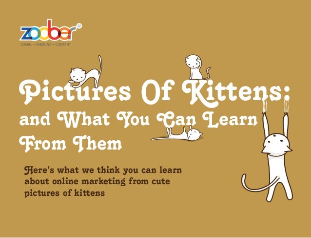 Pictures Of Kittens:and What You Can LearnFrom ThemHere's what we think you can learnabout online marketing from cutepictu...