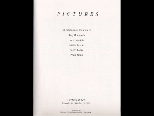 Installation view of Pictures, Artists Space, 1977