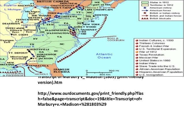 The Midnight CommissionsMarbury v MadisonTranscript of Marbury v_ Madison (1803) (print-friendlyversion).htmhttp://www.our...