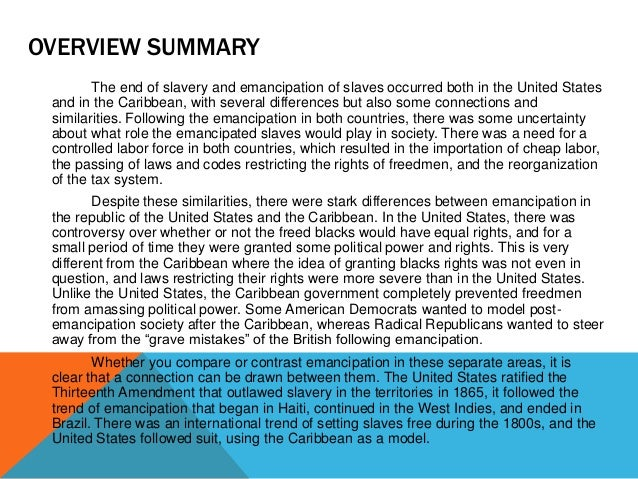 slavery caribbean essays Gender and post-slavery families in the caribbean submitted by: sandria green-stewart january 24, 2013 critical reflection: gender and post-slavery caribbean family 1 sandria green-stewart anthropologists, sociologists and historians among other scholars have offered many analysis, explanations and.