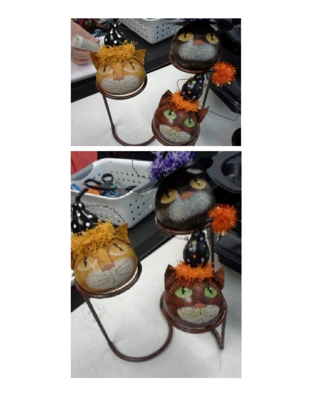 Pictures from kitty ornament class
