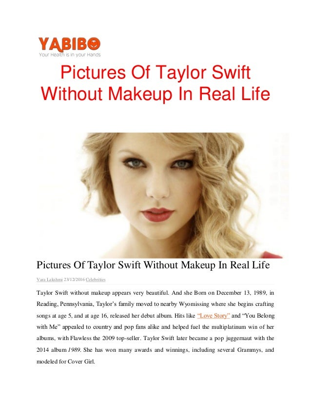 Pictures Of Taylor Swift Without Makeup In Real Lifepdf1