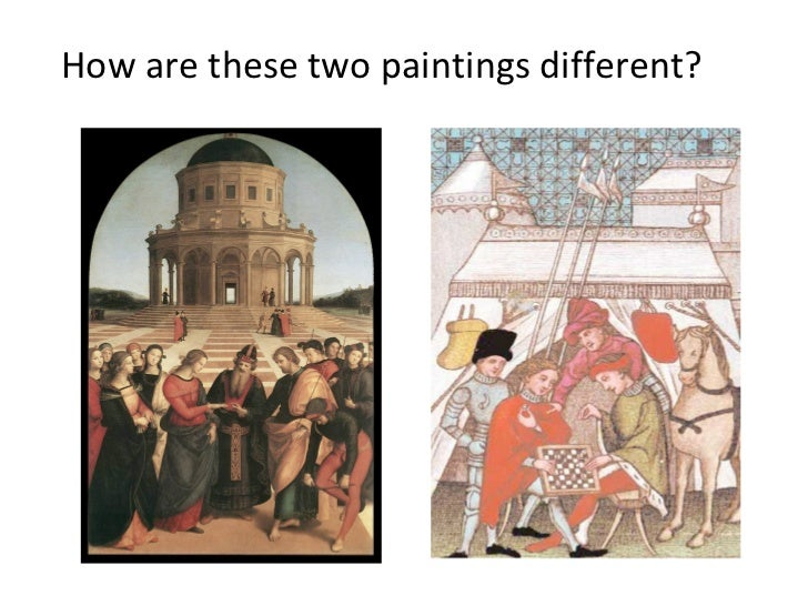 How are these two paintings different?