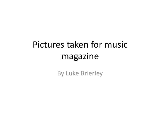 Pictures taken for music magazine By Luke Brierley