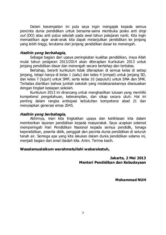 sambutan mendikbud pada peringatan hardiknas 2013 3 638
