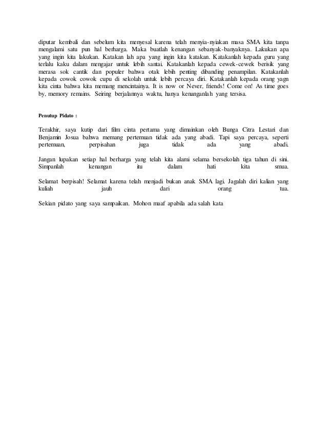 Contoh Pidato Bahasa Sunda Singkat Tentang Perpisahan Pigura