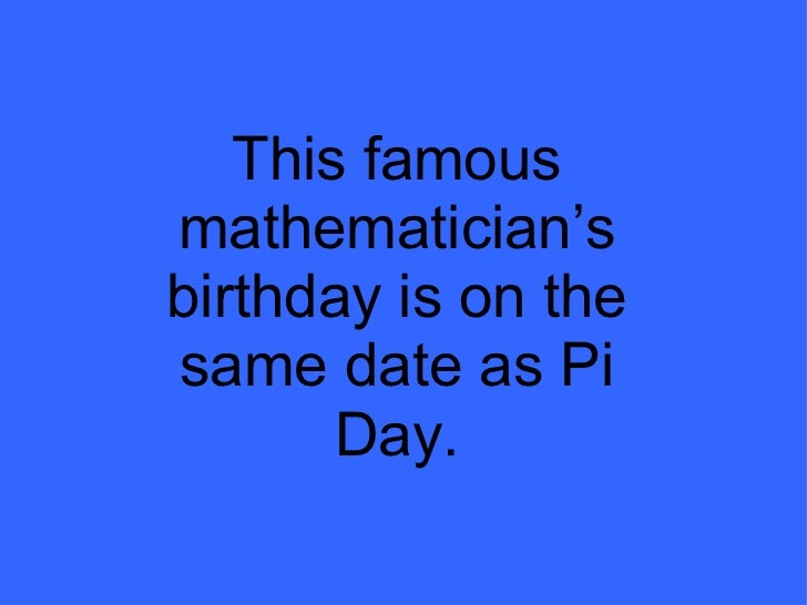 Pi dating